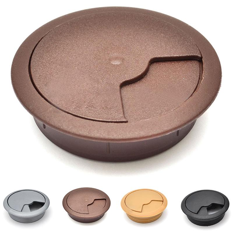 """10pcs 2/"""" Round Grommet Wire Cable Hole Cover for Office PC Computer Desk"""
