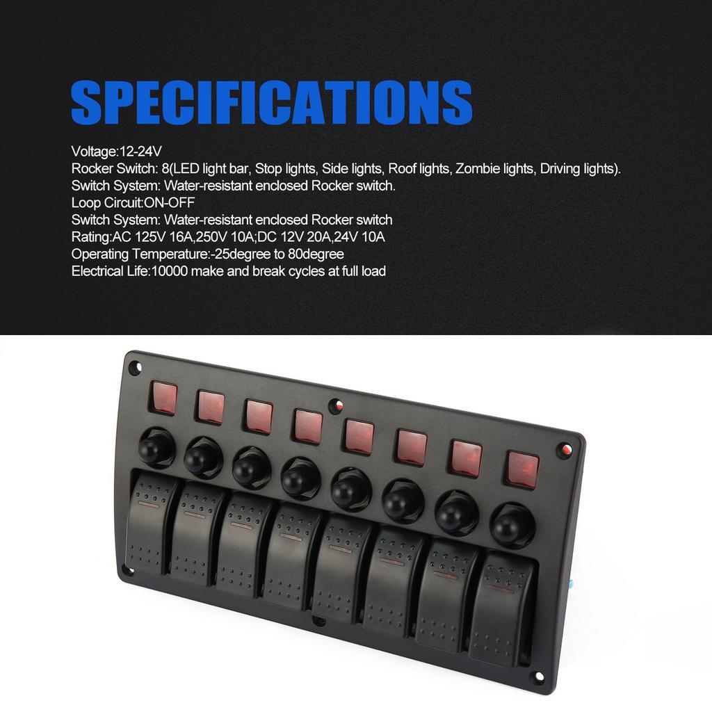 135A Marine Auto RV/'s 12V 24V Circuit Breaker Manual switch reset isolator 4x4
