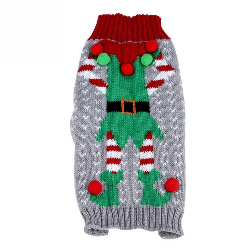 Fashionable Pet Christmas Warm Sweater Xmas Parties Costume Decor for Dogs Puppies Cats