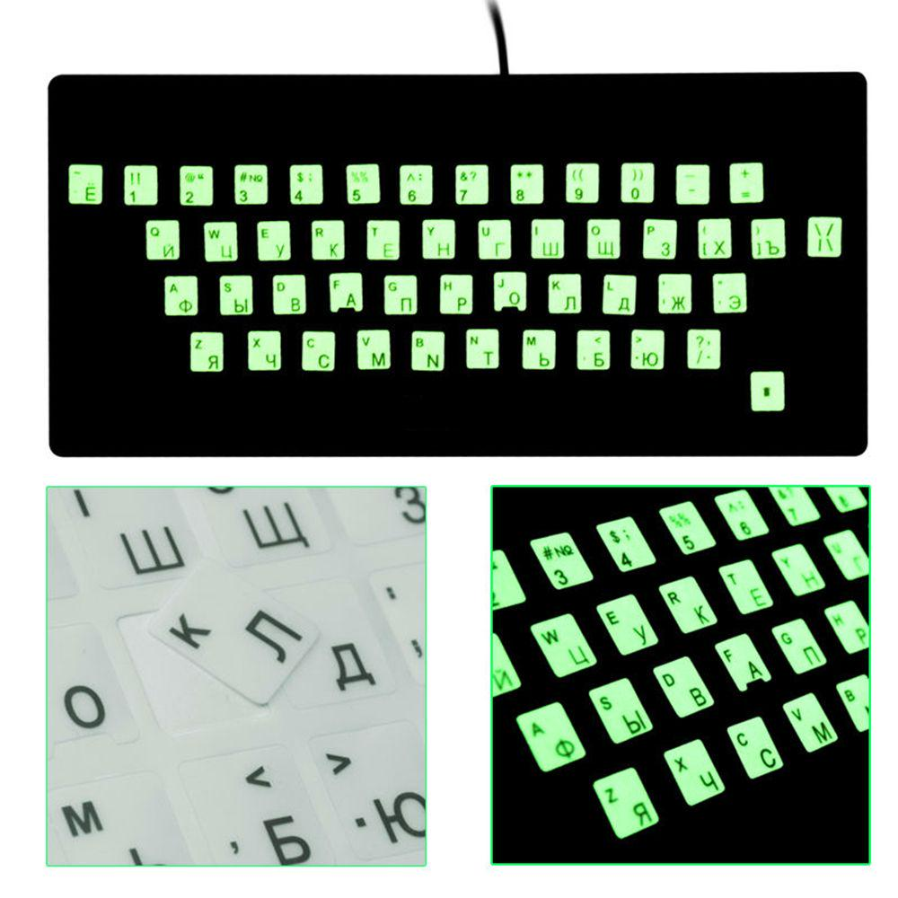 Russian Spanish English French Japanese Letters PC Laptop Computer Keyboard Cover Stickers Film-Japanese