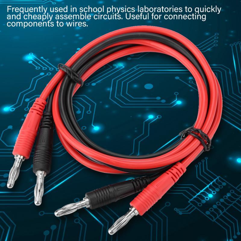 Details about  /P1041 2pcs Multimeter Test Equipment Banana Plug To Banana Plug Probe Cable