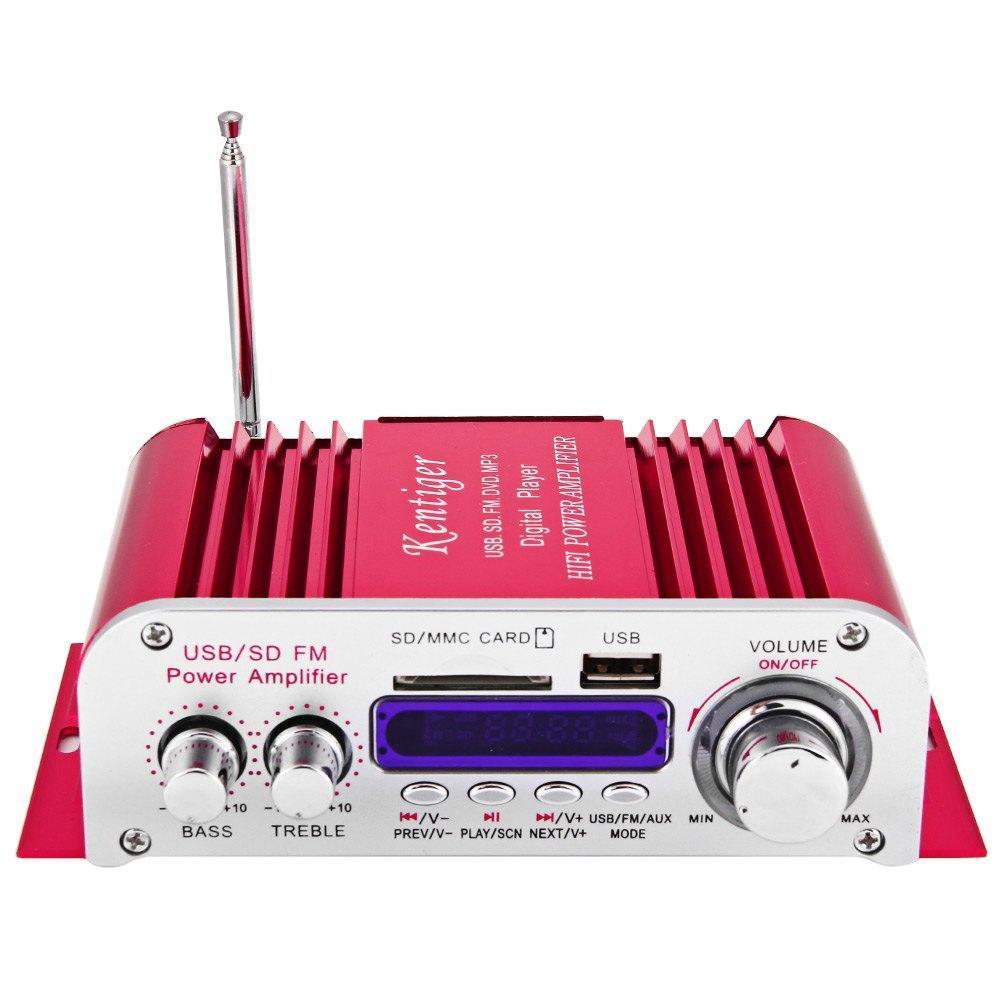 Digital Audio Power Amplifier Home Hi-Fi Stereo MP3 Player Support USB SD MMC