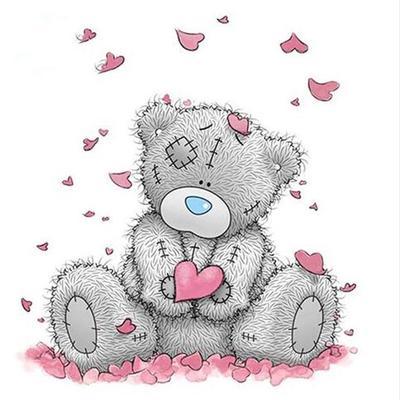 2Pcs Cute Cartoon Bear 5D Diamond Painting Embroidery Craft For Room Decor