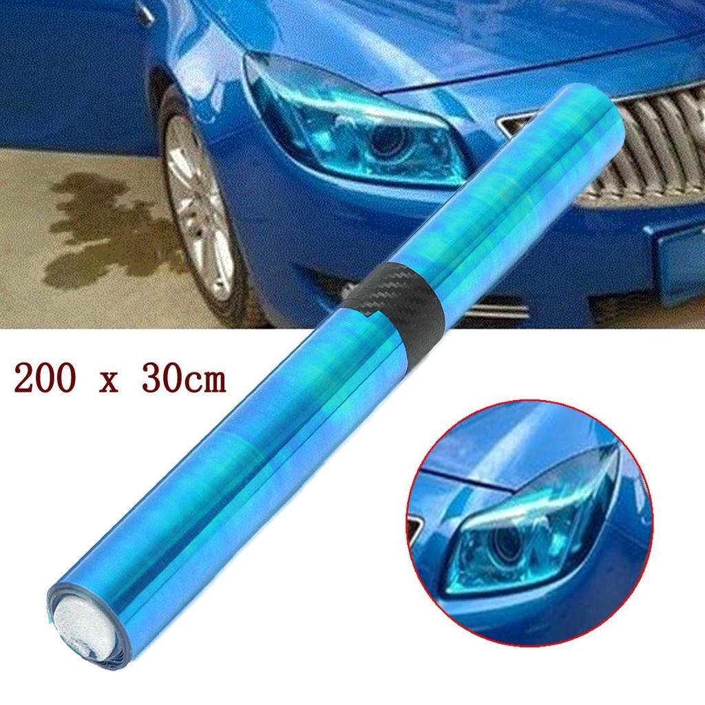 200x30cm Kolorowa Niebieska Lampa Folia Ochronna Reflektor Tail Fog Light Chameleon Kupić W Niskich Cenach W Sklepie Internetowym Joom