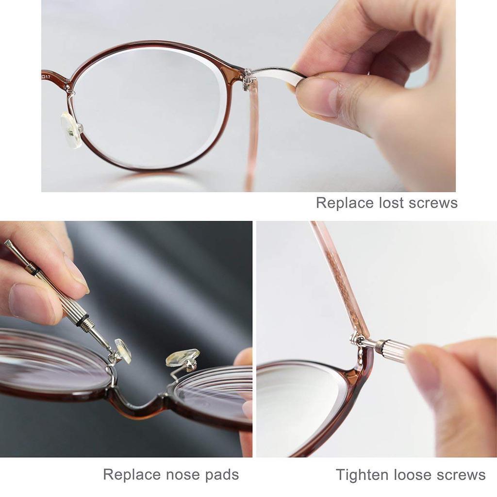 2 x Schraube für Brille Sonnenbrille ca. 1,2 mm Schraube