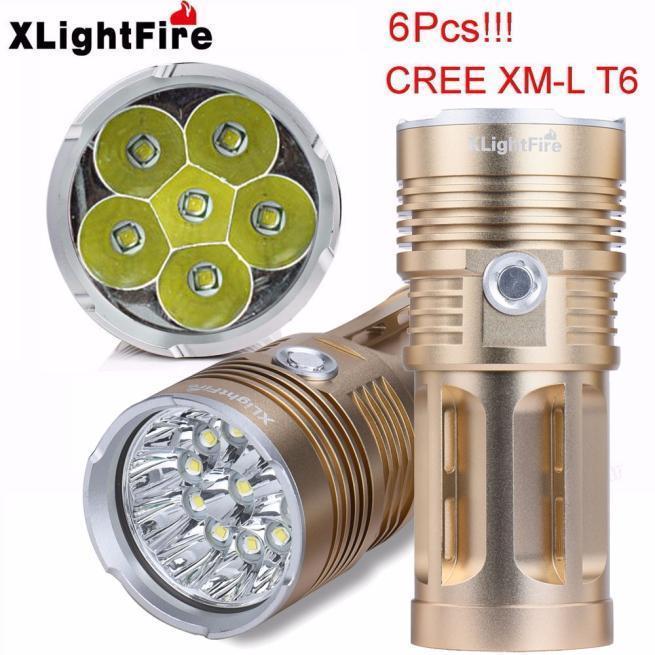Camping & Hiking Flashlights 9000 LM 7x XM-L T6 LED 18650 Tactical Flashlight Torch Hunting Lamp Light New