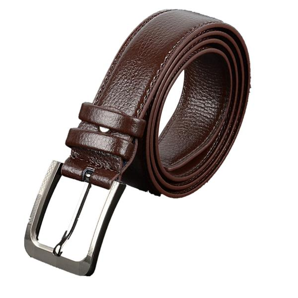 Men and Womensmooth Buckle Faux Leather Belt Casual Pants with Mens and Womens Fashion Classics