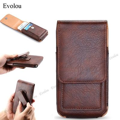 Belt Clip Wallet Phone Pouch Case For Samsung S21 Ultra S20 Plus FE A02S A52 A72 A42 A12 5G Cover Slot Card Waist Leather Holster Phone Bag Cases Capa