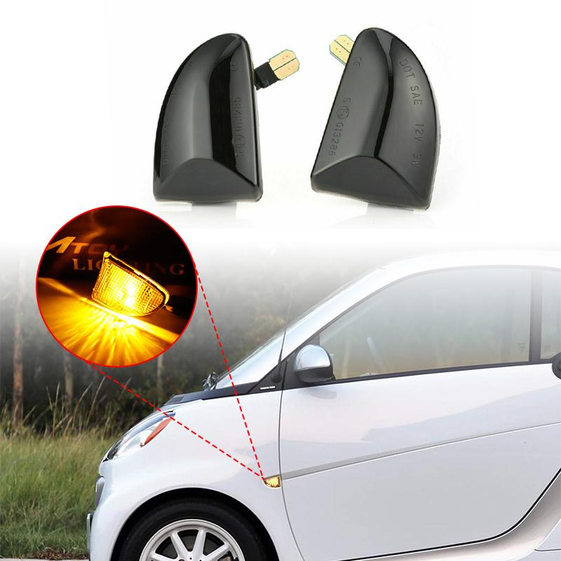For Mercedes W204 W212 W221 LED Side Mirror Marker Turn Signal Lamp Lens Superb