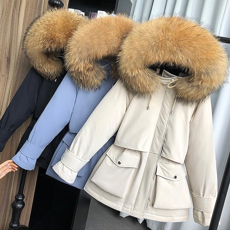 M-5XL Womens Plus Size Mink Fur Hooded Jacket Warm New Thicken Winter Fur Coat L