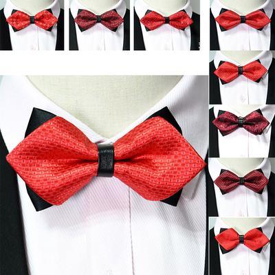 Novelty Gift Geometry Men Party Wedding Neck Tie Bowtie