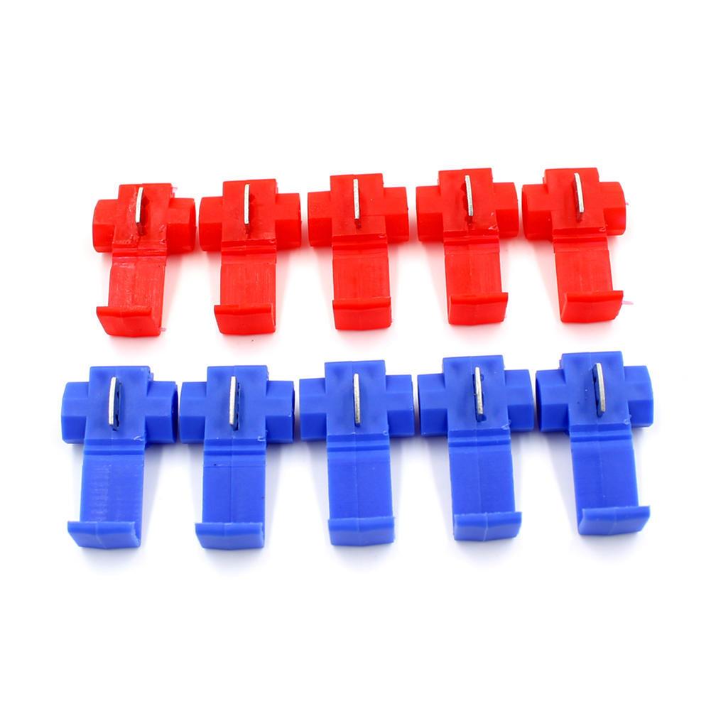 Blaue rote Scotch Lock Drahtklemmen Steckverbinder schnell Spleiß ...