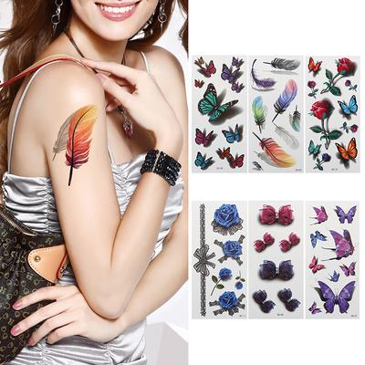 10pcs Professional 3d Butterfly Flower Temporary Waterproof Safe Body Art Tattoo Stickers Buy At A Low Prices On Joom E Commerce Platform