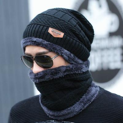 Beanie Hat Woman Fashion Winter Knitted Cap Men Plus Velvet Thick Warm Hats