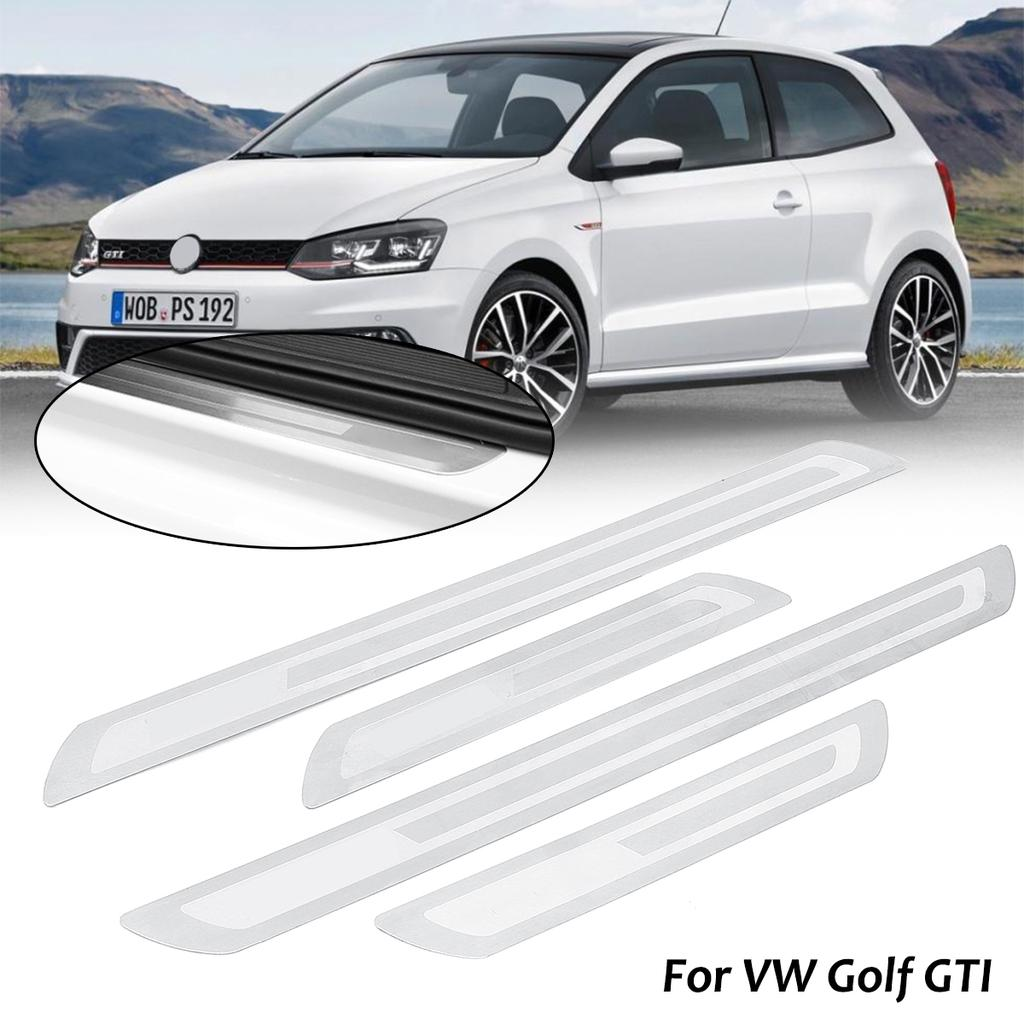 4x Stainless Steel Car Fiber Door Sill Plate Panel Protectors For Vw Golf Gti Buy At A Low Prices On Joom E Commerce Platform