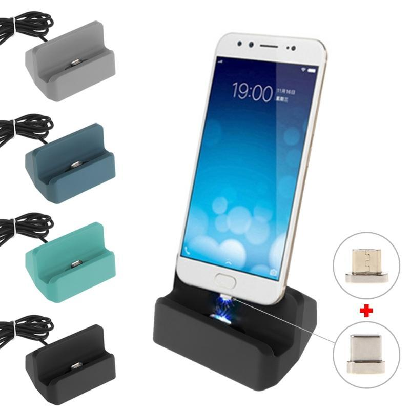 Charge sync dock magnetic micro usb charging station dock for android phone  USB c connector