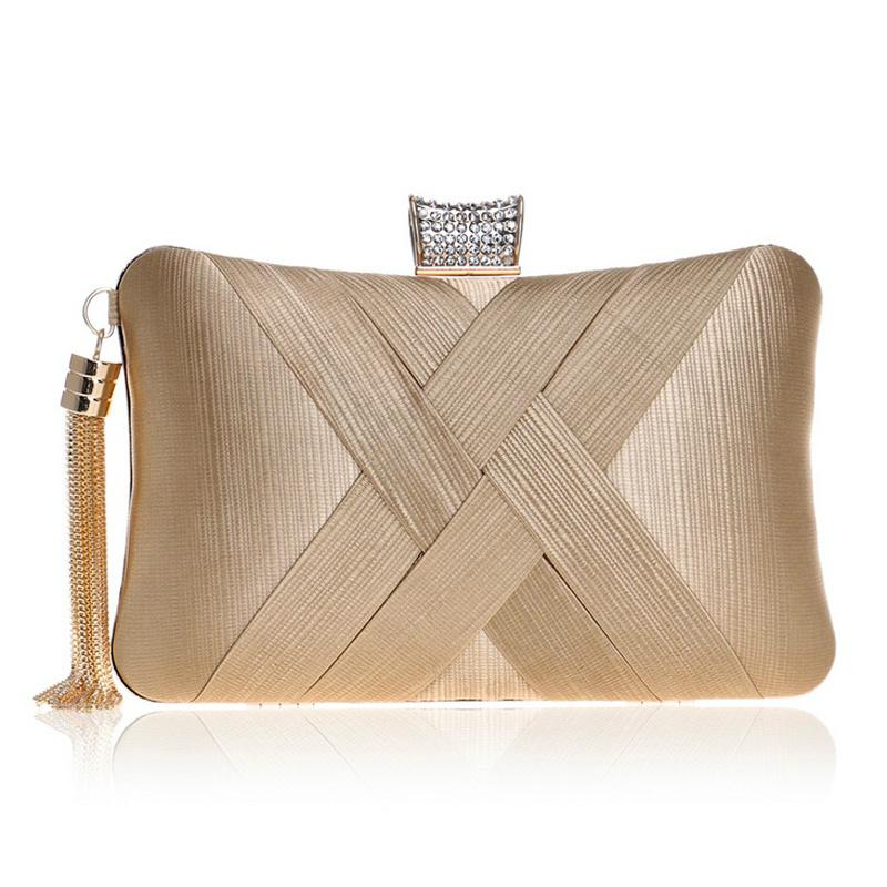 Ladies Dimante Tassel Detail Cross Body Women Shoulder Clutch Hand Bag A760TZ