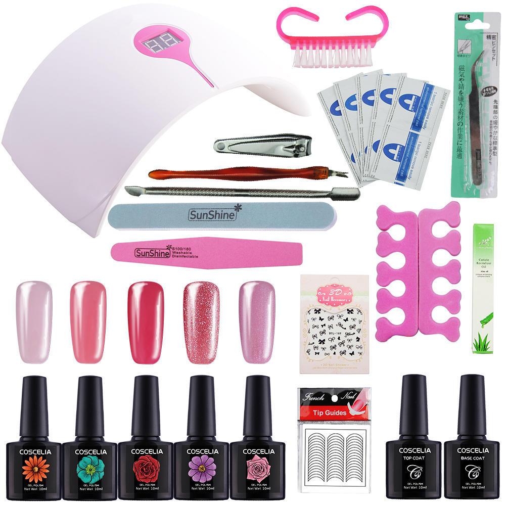 Coscelia Manicure Set Nail Dryer UV Lamp Gel Polish Tools-buy at a ...