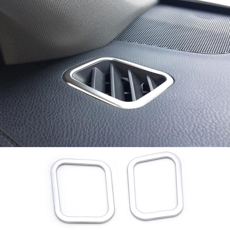 2PCS Silver Stainless Steel Front Air Vent Trim For Toyota Highlander 2015-2018