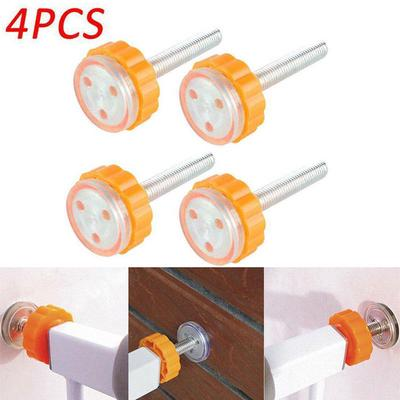4Pcs Durable Safety Stairs Door Fence Gate Screws//Bolts with Locking Nut Set