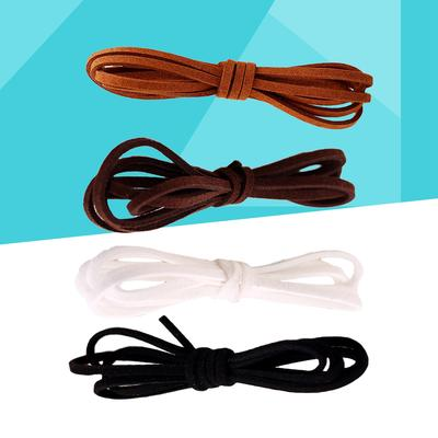 Black 4 mm x 1.5 mm Flat Vintage Suede Cord Various lengths 1 m /> 10 m