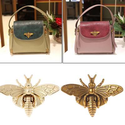 6Pcs Bee Clasp Turn Lock Metal Hardware for DIY Handbag Shoulder Bag Purse