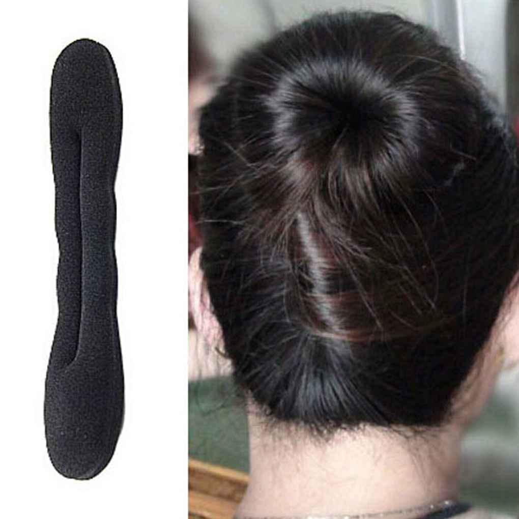 Flut Stil Schaum Schwamm Magic Bun Hair Styling Maker Werkzeug Clip TwistWR