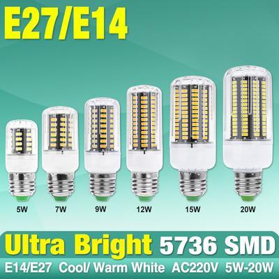 20//15////12//9W Ultra Bright Efficient LED Corn Bulb Lamps Cool//Warm 220//110V Light