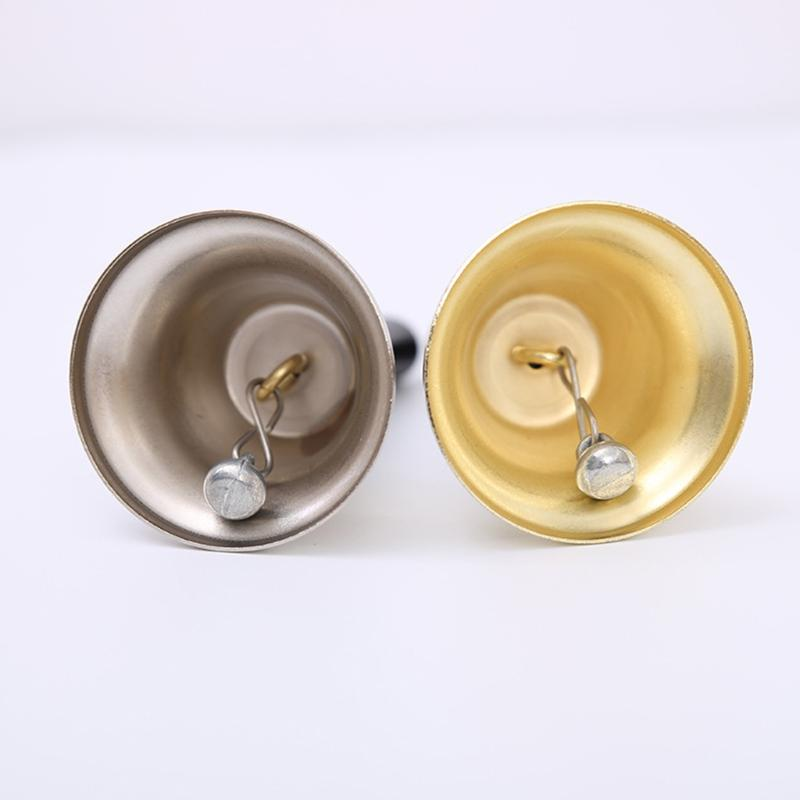 2pcs Christmas Hand Bell Noble Reception Dinner Party Jingle Bells Decorations