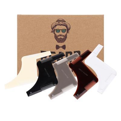 1 pc plástico 5 colores barba bigote que forma el peine de acero ...