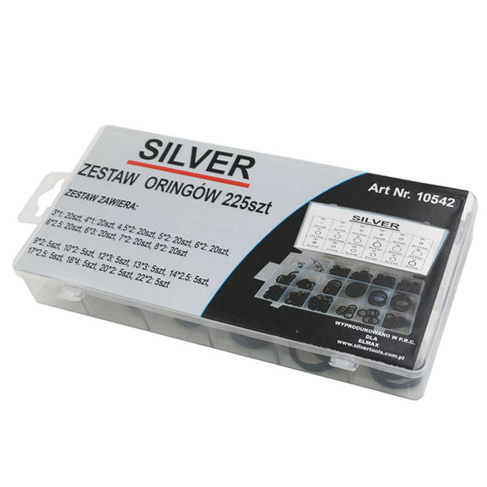 225pcs Machine Repair Parts Seal Apron Ring O Ring rubber Ring Plastic Ring