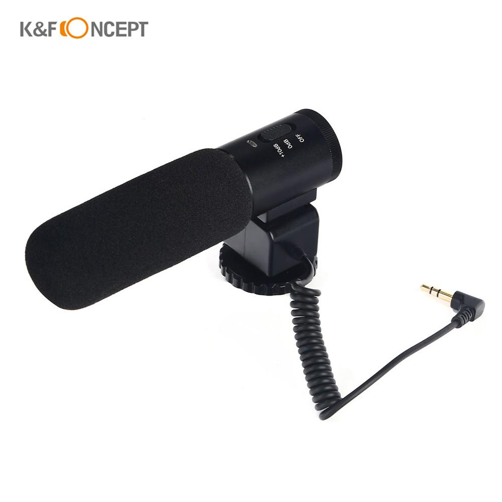 Microphone Condenser DSLR Cameras Metal for Smartphone Record Microphone 1set