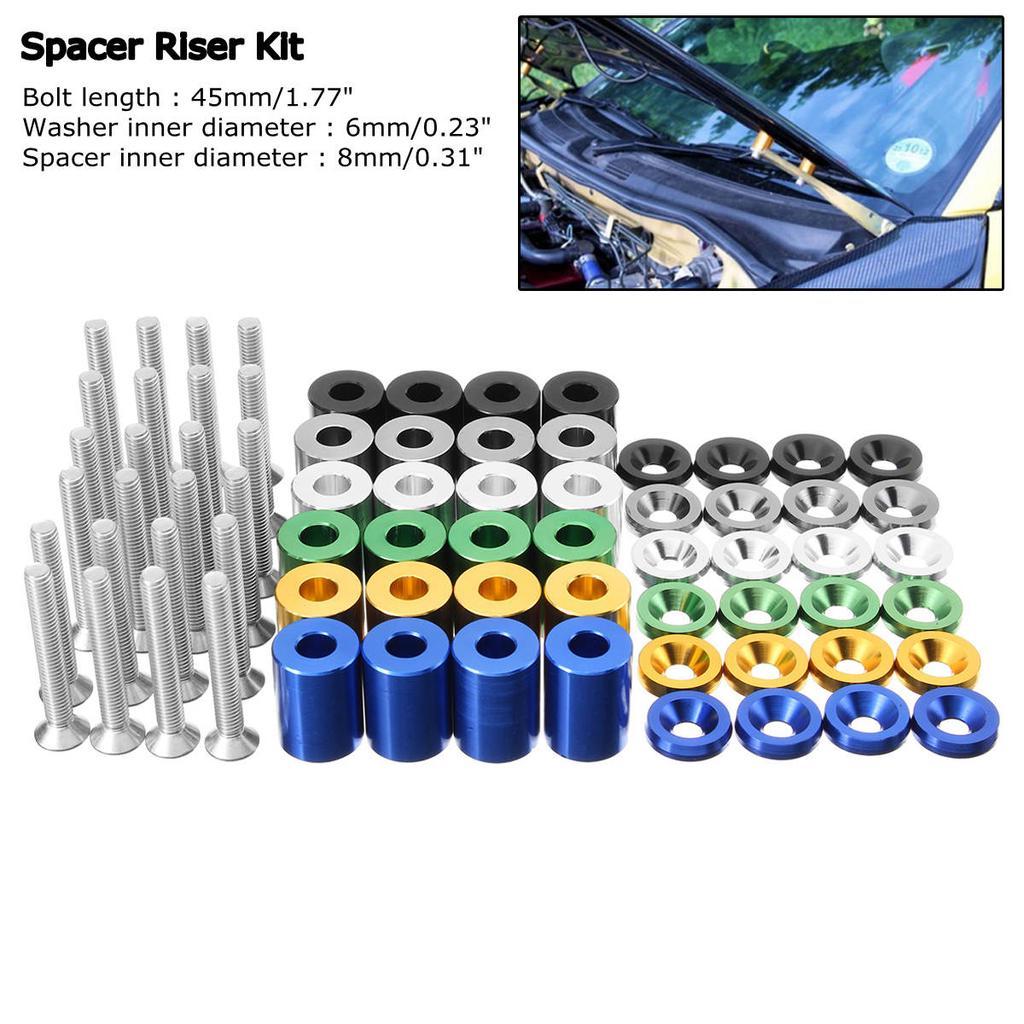 """4 Set 1/"""" 8mm Billet Hood Vent Spacer Riser Kit For Car Engine Turbo Engine Swap"""