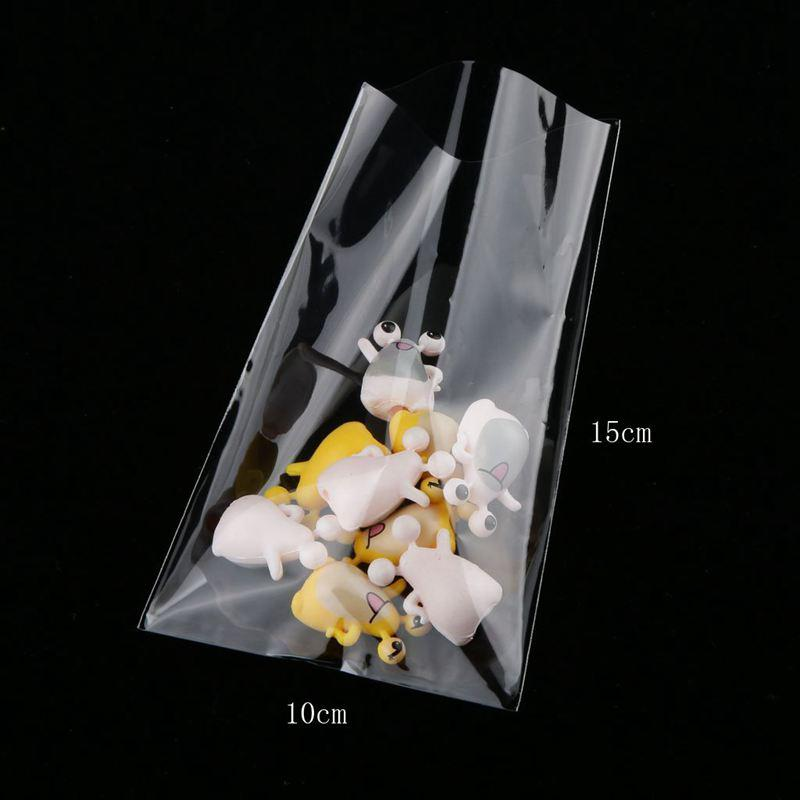 100x Clear Chocolate Lollipop Candy Cello Bags Cellophane Party Favor 10cmx15cm'