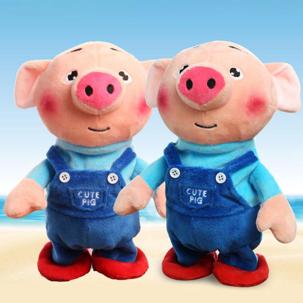 Sound Recording /& Talking Plush Pig Toy With Songs For Kids Baby Birthday Gift