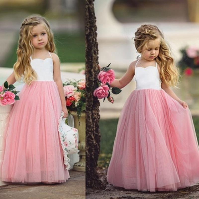 Niñas princesa fiesta boda de Dama de honor Tutu vestido niños ...