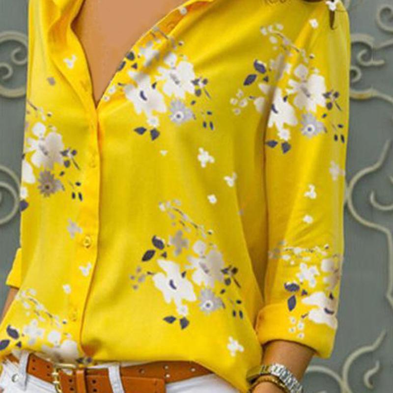 Женщин леди одежда вершины v-образным вырезом рубашка блузка длинные плюс размер моды хлопок офис большой размер фото