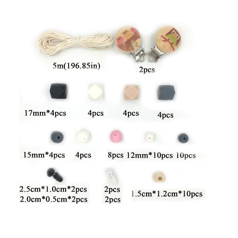 0db9504cf40d Set de Clips manualidades seguro y mordedor bebé chupete perlas cuna ...