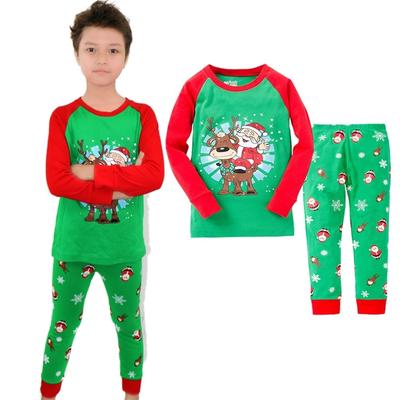 c3facde3da6a New Xmas Kids Boys Cotton Long Sleeve Pyjamas Baby Sleepwear Size ...