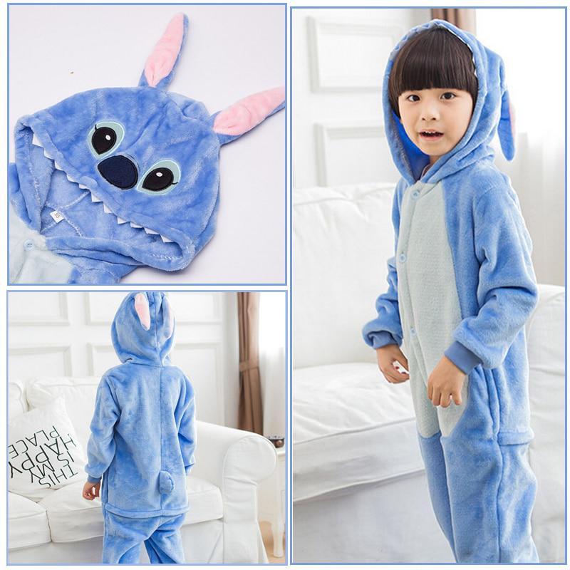 Мода Симпатичные дети стежок Kigurumi пижамы аниме Косплей костюм Blue Fancy Onesie Sleepwear