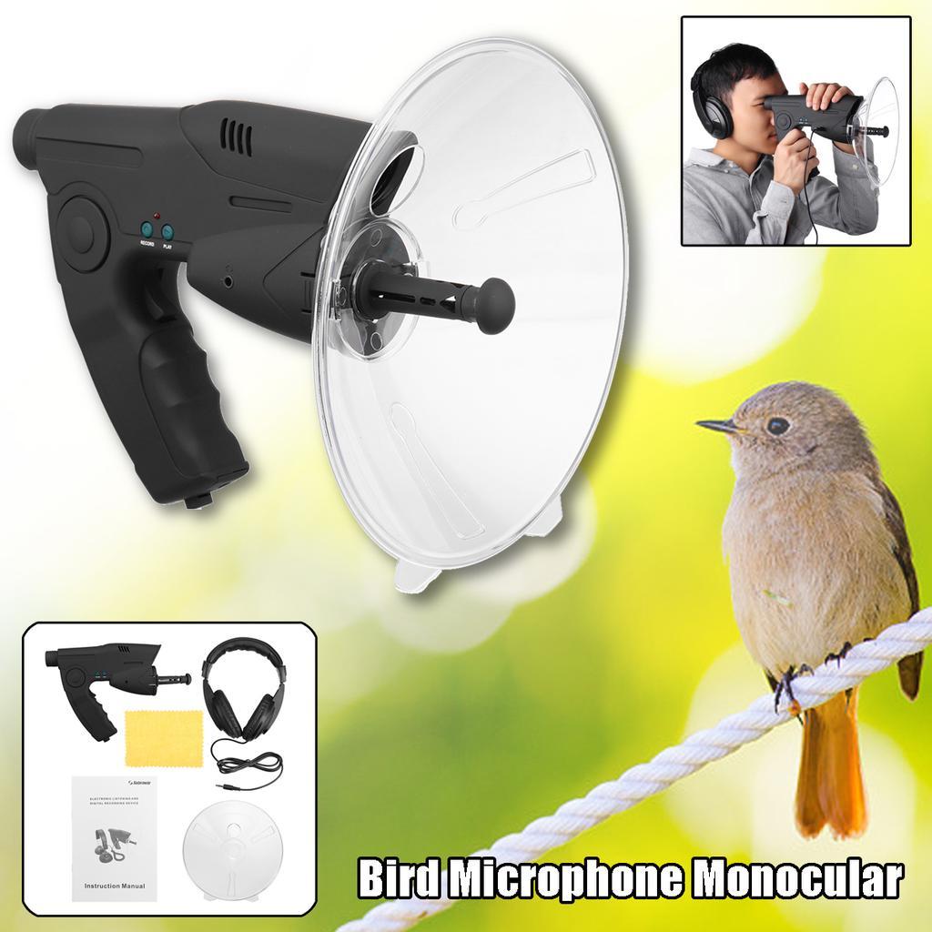 SLWXZXD Microphone parabolique monoculaire X8 Bionic Oreille longue distance Oiseaux T/élescope auditif 200 m
