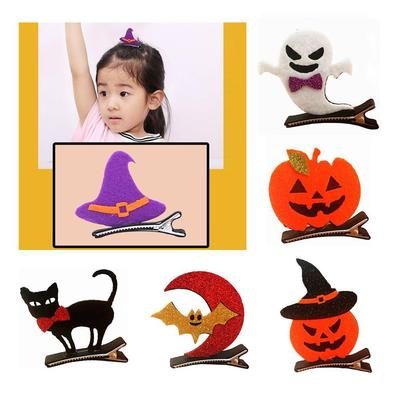 Dress-up Halloween Hair Clips Devil Bat Wings Witch Hairpin Girls Costume