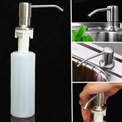 1 X 300ML Waschbecken Flüssigseife Dispenser Küche Badezimmer Waschbecken  Sieb Aus Gebürstetem Nickel Kopf ABS Flasche