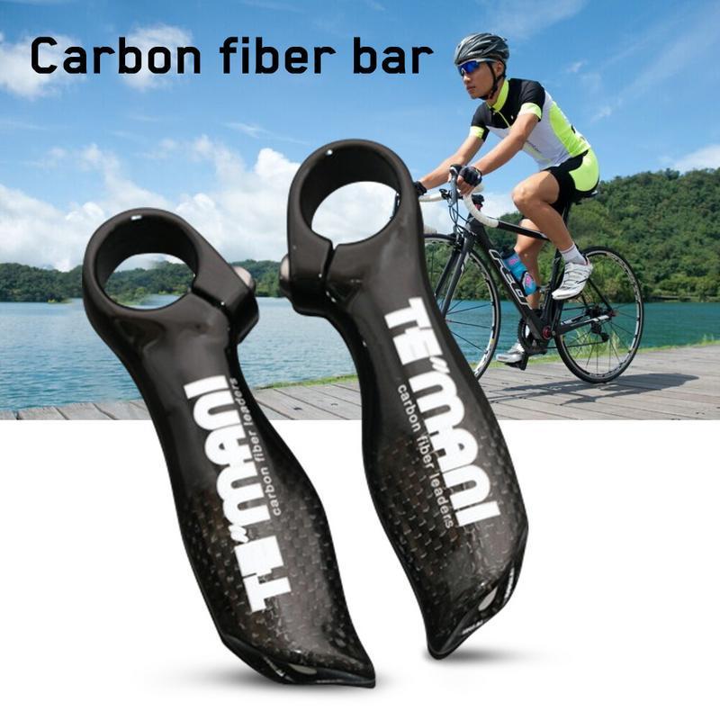 TEMANI Handle Bar End Grip Handbar Fr Mountain Road Bikes Bicycle Carbon Fiber