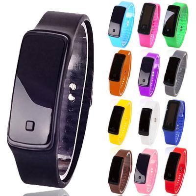 Moda Digital LED pantalla deportes jalea reloj de pulsera de silicona banda hombres mujeres
