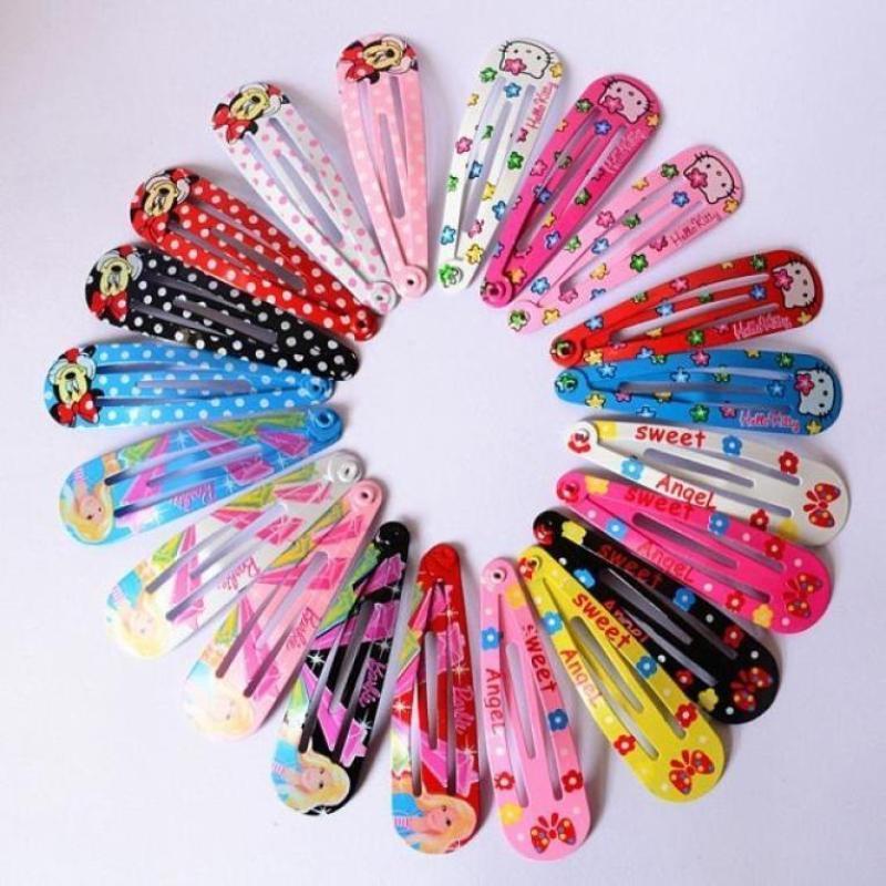 Цветные заколки для девочек-комплект из 10-и штук фото