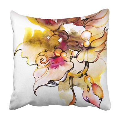 Animal Cherry Blossom And Fawns Watercolor Floral Pattern Artistic Bambi Beautiful Pillow Case Cover 18x18inch 45x45cm Buy At A Low Prices On Joom E Commerce Platform