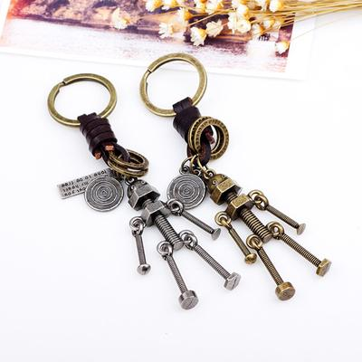 Heavy Duty Car Keychain Zinc Alloy Creative Tocomotive Model Bullettrain Key Chain Support Custom logo Small Gifts