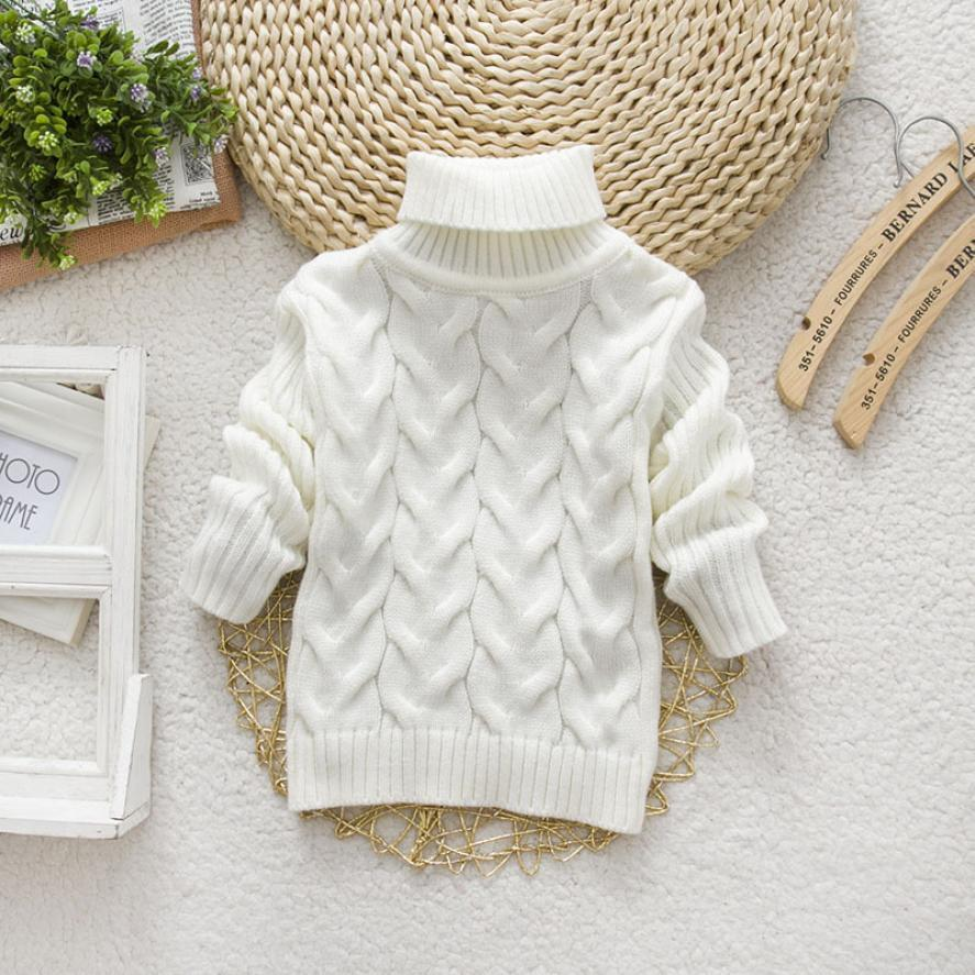 Winter Baby Girls Cardigan Sweater Long Sleeve Solid Top for Girls Cotton Thick Warm Sweater