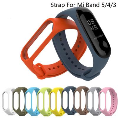 11 Color Soft Silicone Wristband Strap For Xiaomi Mi Band 6/5/4/3 Watchband Strap Smart Bracelet Replacement